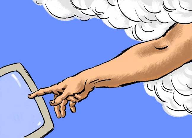 God's still a social media 'noob'
