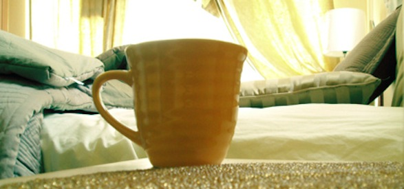 coffee by bed