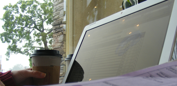 Coffee Shop Laptop