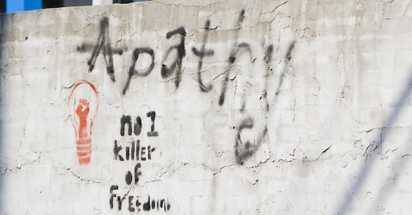 Apathy: Number 1 Killer of Freedom